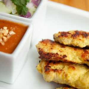 A photo of Chicken Satay from Sunee Thai & Lao Kitchen in Portland, Oregon.