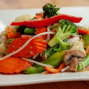 A photo of Vegetable Deluxe Stir-Fry from Sunee Thai & Lao Kitchen in Portland, Oregon.