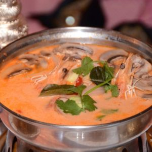 A photo of Tom Kha Soup With Shrimp from Sunee Thai & Lao Kitchen in Portland, Oregon.